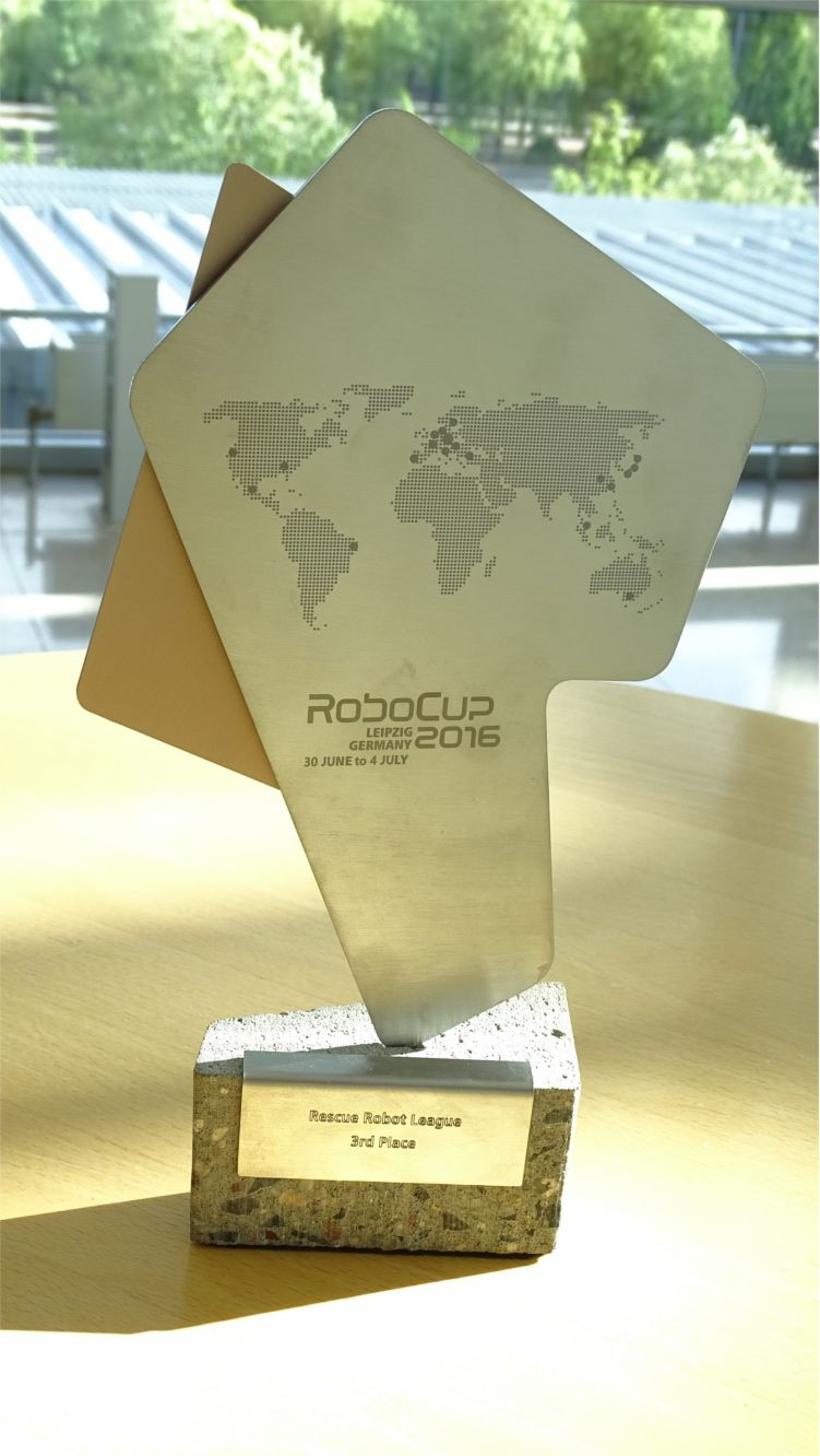The RoboCup trophy